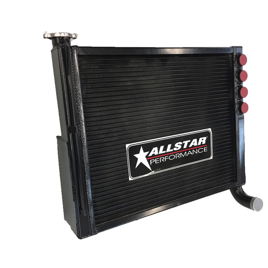 All Star Black Thermal Coated Crossflow Radiator Damaged