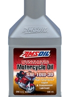 AMSOIL 10W-30 SYNTHETIC MOTORCYCLE ENGINE OIL