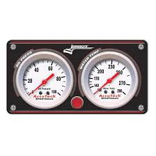 Economy Black Gauge Panel W/ WT/OP Light