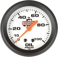 Quick Racing Oil Pressure Gauge