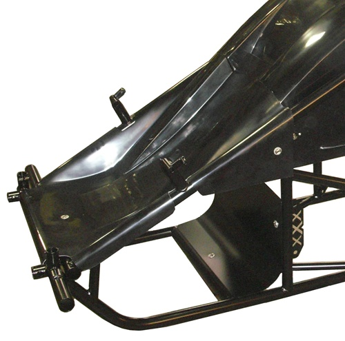 Black Version of the Dual Duct Inside Rail Nose