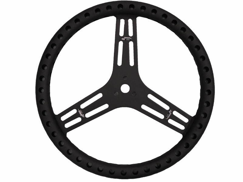 "Longacre 15"" LW Flat Steering Wheel (Black)"